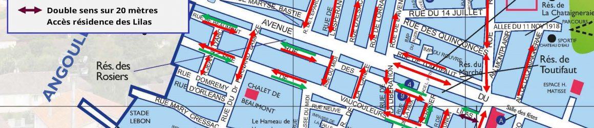Nouveau plan de circulation de l'avenue du Général de Gaulle