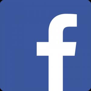 logo facebook, lettre blanche avec fond bleu