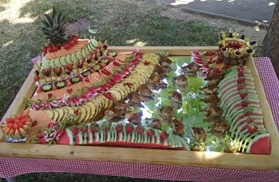 Buffet fruits et légumes 22 juin 2017 à Soyaux