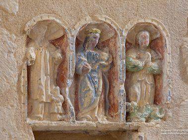 Soyaux Bourg, figurine taillée dans la pierre