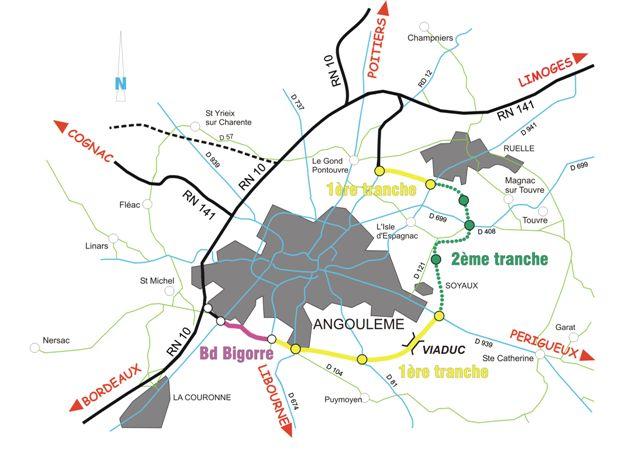 carte de l'agglomération de la Ville de Soyaux