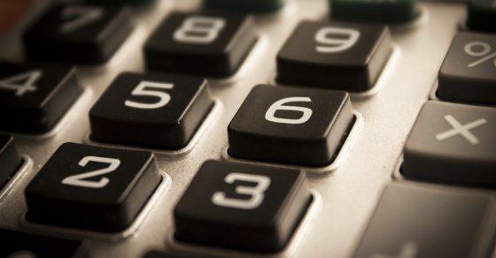 numéros de calculatrice, chiffres, calcul du budget
