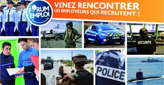affiche du forum de l'emploi et des métiers de la défense et de la sécurité