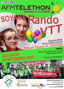 Téléthon Rando VTT à Soyaux, Espace Matisse à 8h