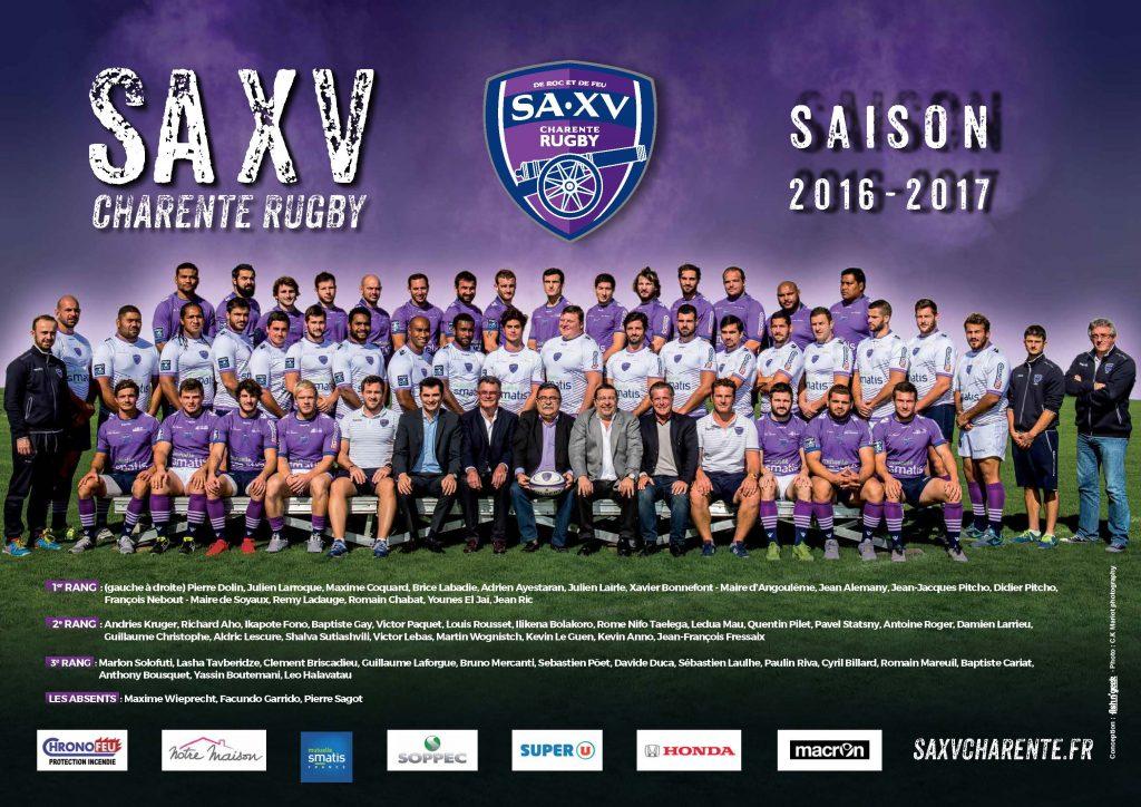 équipe SAXV 2016-2017