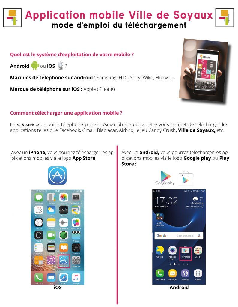 mode d'emploi téléchargement de l'application mobile Ville de Soyaux