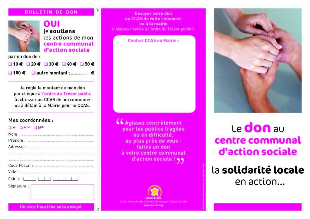 plaquette dons CCAS