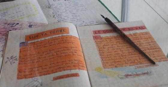 Souvenirs école de Grapillet, cahier d'école d'un enfant