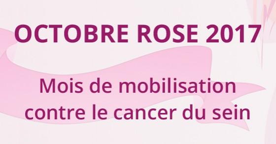 Lutte contre le cancer du sein - Octobre Rose 2017