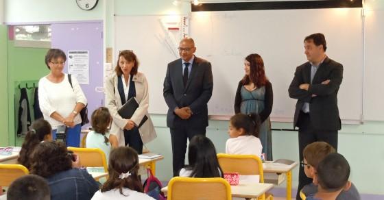 Préfet de la Charente visite l'école E. Herriot