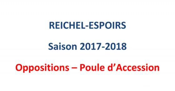 Oppositions Reichel-Espoirs du SA XV Poule d'accession