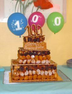 Gâteau des 100 ans de Jacqueline Collin