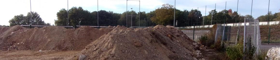 Création d'une zone de compostage aux Rochers