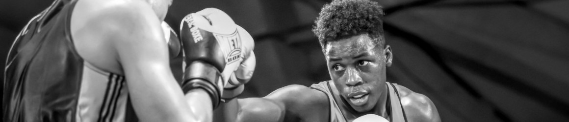 Karamba Kébé au championnat régional en boxe anglaise