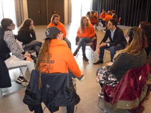 Service Civique d'Unis-Cité recontre des élus à Soelys - Soyaux