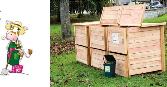 Site public de compostage près des Jardins Partagés de Soyaux
