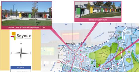 Plan de ville Soyaux - extrait