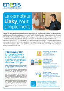 Compteurs Linky - Plaquette d'explication