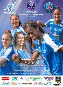 1/2 finale Coupe de France Féminine - ASJ Soyaux contre PSG