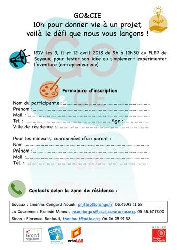ADIE : flyer inscription Go&Cie