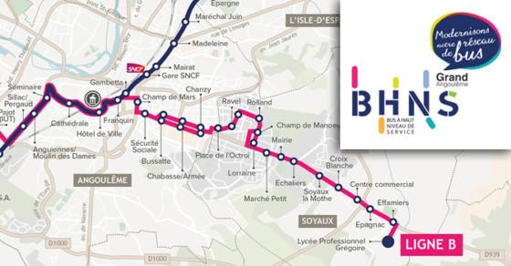 BHNS - plan ligne B