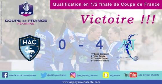 ASJ Soyaux Charente : victoire en quart de finale contre Le Havre