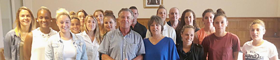 L'ASJ Soyaux Charente reçue par M. le Maire