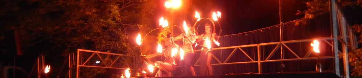 Énorme succès pour le spectacle de danse/feu de la Cie Hanabi Circus