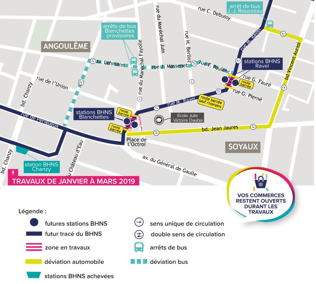 Plan de circulation - Travaux BHNS