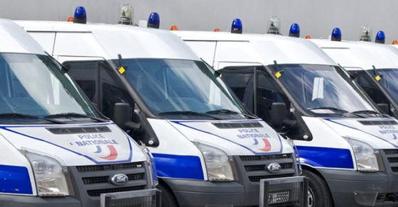Camions de police nationale