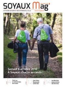 Page de couverture SOYAUX MAG - SEPTEMBRE 2018