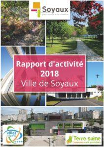Page de couverture Rapport d'activité 2018