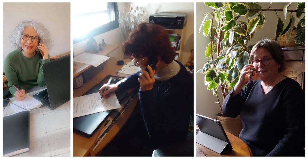 les élues de la Ville effectue une veille téléphonique auprès des seniors et des personnes isolées