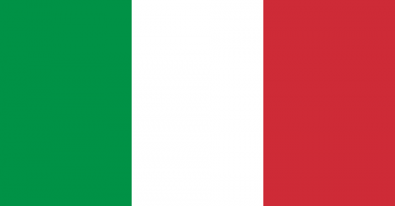 drapeau de l'Italie, vert, blanc et rouge