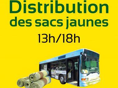 Les jours de distribution des sacs jaunes à Soyaux
