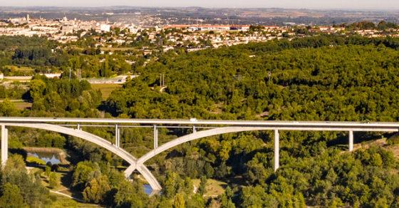 La Ville vue d'en haut, viaduc de Languienne